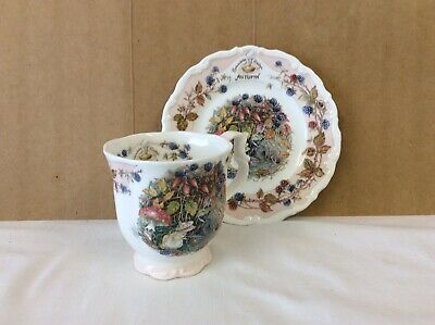 "ROYAL DOULTON BRAMBLY HEDGE Beaker And Plate ""autumn "" Range. • 10.50£"