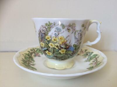 Royal Doulton Cup And Saucer Brambly Hedge Spring 1983 • 15£