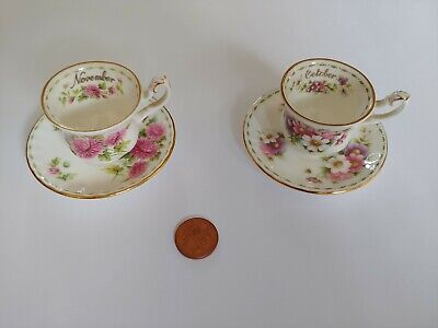 Royal Albert Flower Of The Month Cup Saucer November And October  • 9.50£