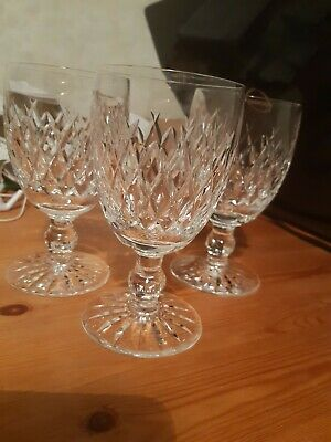 Waterford Heavy Crystal Glasses 1960's Set Of 3 • 15.20£