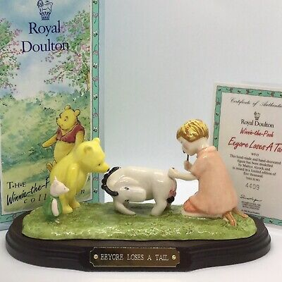 💛 'royal Doulton' Ltd Edition 'eeyore Loses A Tail'  Signed! & Boxed With Cert! • 80£