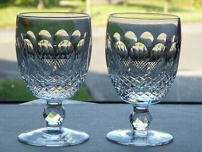 Pair Of Waterford Colleen Water Goblets Glasses 5 1/4 Inch 8 Fluid Oz Signed • 80£