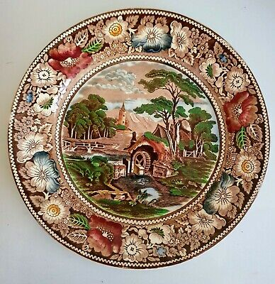 Vintage Rural England Plate By W. R. Midwinter Ltd England  • 2£