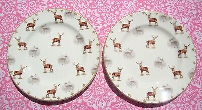 Spode Glen Lodge Side Plate X 2 - Stag Design - New Without Tags / Seconds • 14.99£