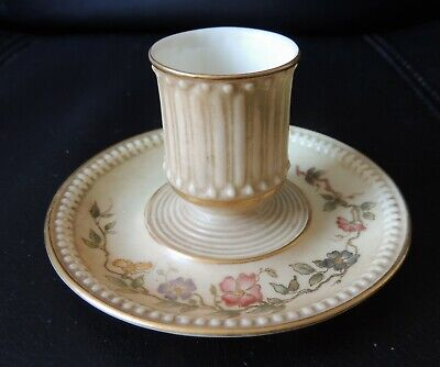 Dated 1893 RARE ANTIQUE Royal Worcester Blush Ivory CANDLE HOLDER 1417 • 30£