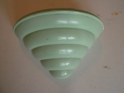 Wall Pocket Deco Green Glazed Orig Liner • 32£