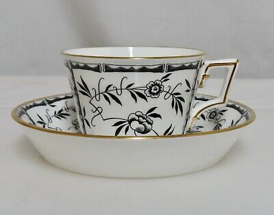 Hammersley Tiffany & Co Black Bamboo Cup & Saucer  -  80710 • 72.16£