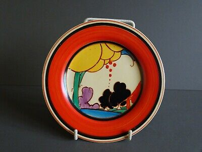 Clarice Cliff Summerhouse Pattern Plate. Art Deco. Hand Painted • 275£