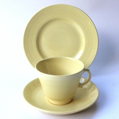 Woods Ware Jasmine Yellow Trio Cup Saucer & Side Plate   • 10£