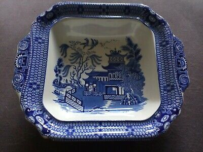 Burleigh Ware Willow Pattern Rectangular Serving Dish In Excellent Condition • 28.50£