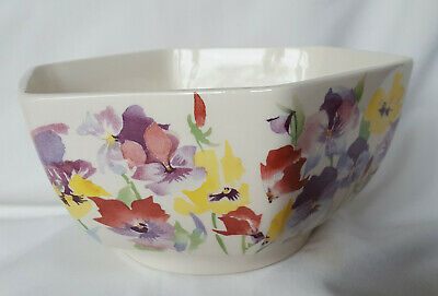 Wade England Porcelain Pansy Pansies 6 Sided Large Bowl In Very Good Condition • 17.99£