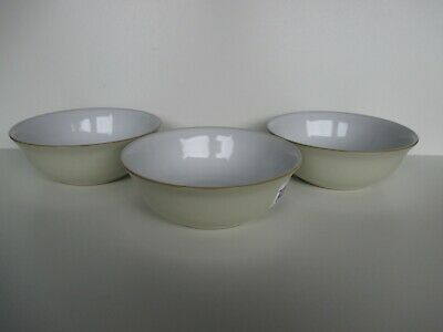 Denby Linen 3 X Cereal Bowls New First Quality Excellent Condition • 37.50£