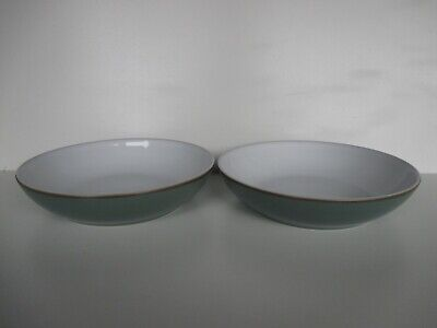Denby Regency Green 2 X Pasta Bowls New First Quality Excellent Condition • 29.50£