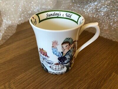 Queens Fine Bone China Mug Birthday Week Sundays Child • 5.99£