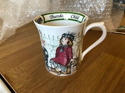 Queens Fine Bone China Mug Birthday Week Thursdays Child • 5.99£