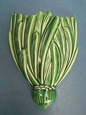 Sylvac Wall Pocket Green As Tied Bunch On Leaves Good Condition 22cm Long X 16 • 32£