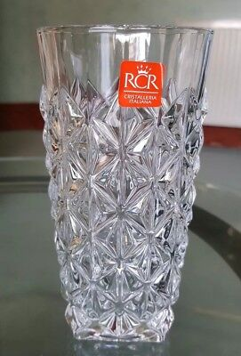 RCR 4 Drinking Glasses. 4 Piece RCR Luxion Crystal Enigma Hi-Ball Tumblers. 40cl • 28£