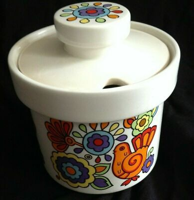 1960s Hand Crafted  Lord Nelson Pottery GAYTIME Jam Or Preserve Pot • 24£