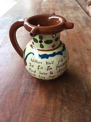 Aller Vale Pottery PUZZLE JUG Quirky • 35£