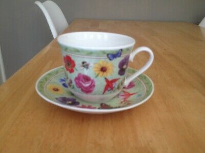 2 X Roy Kirkham Summer Scents Breakfasts Cups And Saucers • 15£