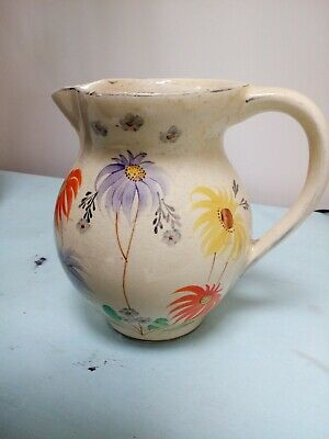Arthur Wood Hand Painted  Pottery Floral Warwick Jug / Vase In Good Condition • 9.50£