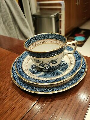 Booths Real Old Willow Trio (Cup Saucer Tea Plate ) Vintage • 7.95£