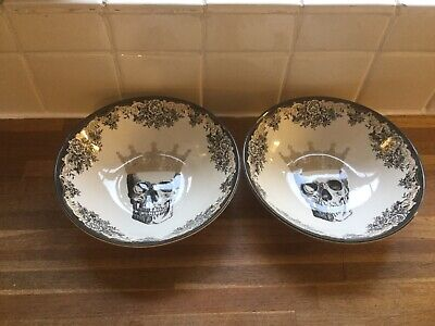 Royal Stafford - Skulls Queen Cereal Bowls X 2 - BRAND NEW.Halloween. • 17.99£