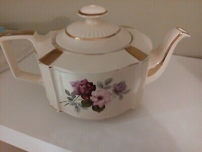 Sadler  Vintage Floral And Gilded Large Teapot In Good Condition • 14.50£