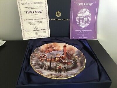 Royal Doulton - Holly Cottage Plate - Boxed With Certificate • 15£