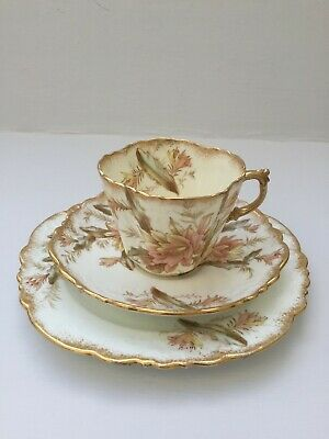 Aynsley Antique Bone China Trios Tea Cups And Saucers Plate No 291231 • 15.99£