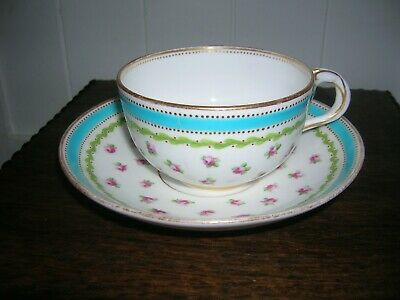 Minton Bute Shape Cup And Saucer 1840s • 45£