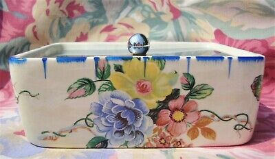Vintage Art Deco Coronet Ware / Parrot & Company Butterfly Butter Dish - Superb • 24.99£