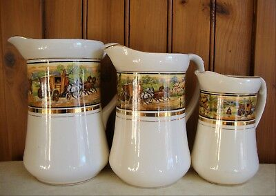 Vintage Complete Set Of In Shakespeare's Time Graduated Jugs - Superb Condition • 19.99£