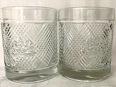 Two Stylish Ralph Lauren Safari Double Old Fashioned Glasses, Excellent Cond • 18.68£