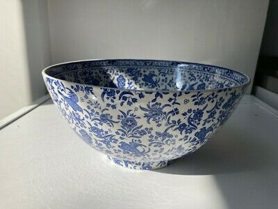 Burleigh Blue Large Footed Bowl 26cm Diameter • 38£