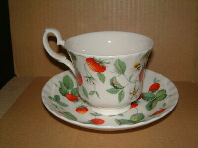 Roy Kirkham Cup And Saucer - Alpine Strawberry Design • 20£
