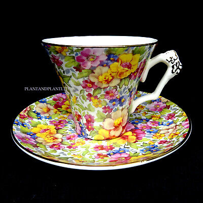 James Kent Du Barry Pattern Chintz Cup And Saucer • 24.58£