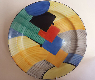 Iconic Art Deco Grays Susie Cooper Geometric 'Cubist' Handpainted Charger  #8071 • 1,349£