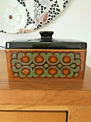 Hornsea Pottery *BRONTE* Butter Dish - 1977 - John Clappison - *NICE EXAMPLE* • 10.50£