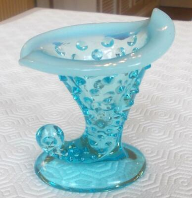 Vintage Davidson Blue Pearline Glass Posy Vase 3.25in Height • 7.99£