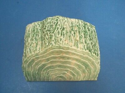 Large Green 30's Wall Pocket As Tree Trunk Fair Condition 1 Chip Onback Corner • 11£