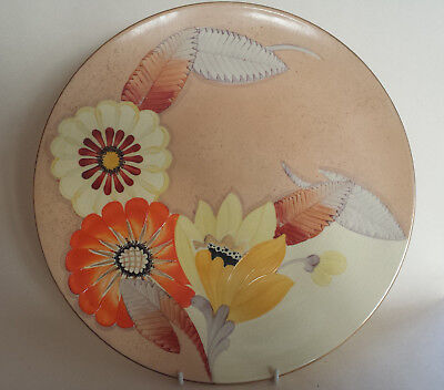 Art Deco Grays  'Sunbuff' XL Plate/Charger Hand Painted & Gilded A2999 • 149.99£