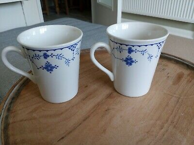 Masons Blue Denmark Blue Coffee Mugs X 2 In Excellent Condition • 15.75£