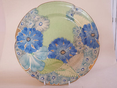 Vibrant Art Deco Grays Scalloped Edge A4116 (31cm) Plate Hand Painted & Gilded • 124.99£
