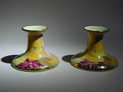 Art Deco Grays Susie Cooper Style Pair Of Candle Sticks Gilded A4668 • 54.99£