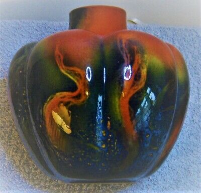 Royal Doulton   Flambe Onion Shaped Vase • 325£