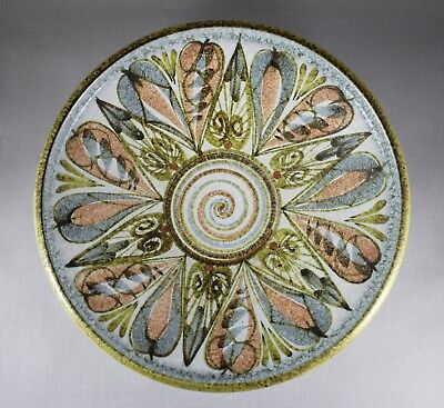 LARGE DENBY GLYN COLLEDGE HAND PAINTED BOWL 32cm C1960 • 42£