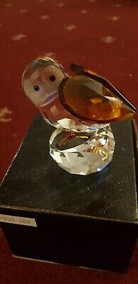 Crystal Owl  Figurine With Amber Wings Large  • 9.95£