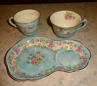 Vintage James Kent Capri Tennis/TV  Cup On Tray Set With Extra Cup. • 12£