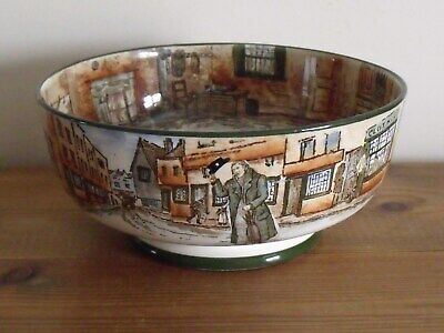Antique Royal Doulton Dickens Ware Footed Bowl A/F C1908 • 15£